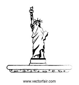 grunge statue liberty sculpture traditional history