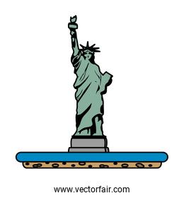 color statue liberty sculpture traditional history