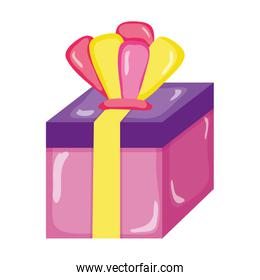 present gift box with crown accessory