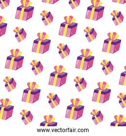present gift box with crown accessory background