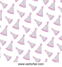 party hat with points decoration background