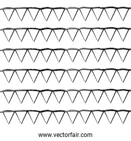 grunge triangle party flags decoration background