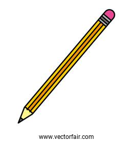 color wood pencil object school style