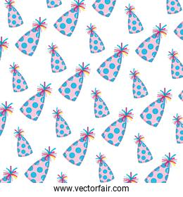 funny party hat with points decoration background