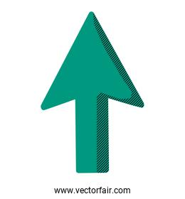 arrow sign up direction icon