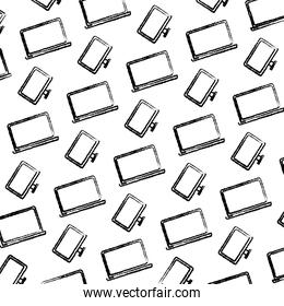 grunge electronic laptop and computer technology background