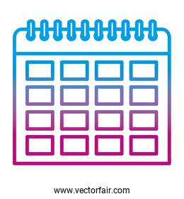 degraded line organizer calendar to important event day