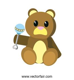 bear teddy cute toy with rattle