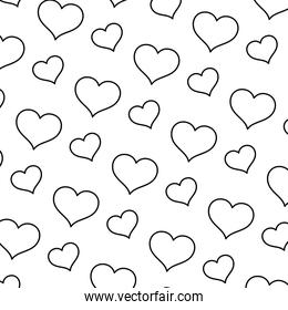 line art heart graphic shape background