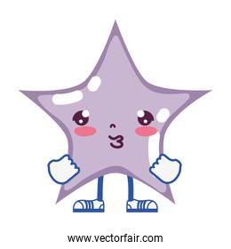 kawaii cute star with arms and legs