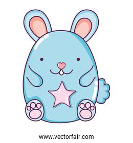 cute mouse animal with star design