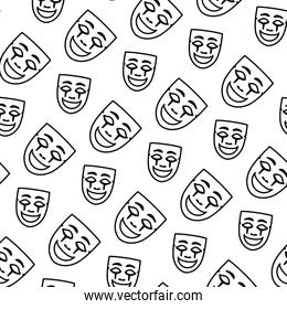line face mask carnival style background