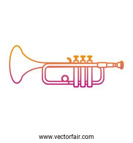 degraded line music trumpet instrument artistic melody