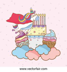 birthday, party, unicorn, party cartoons