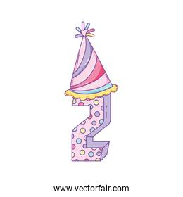 Birthday candle number