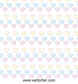 Hearts background cartoons