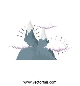 adventure landscape with snow mountain