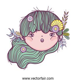 cute little fairy with elf ears character
