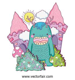 fairytale monster in the castle