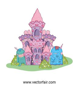 fairytale monsters in the castle