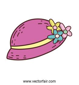 female hat with flowers icon