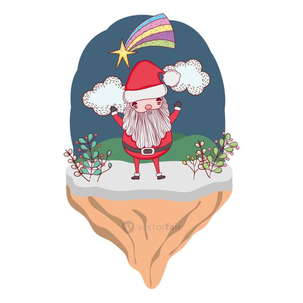 christmas santa claus in the landscape