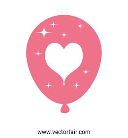 balloon helium floating with heart