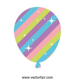 balloon helium floating with stars