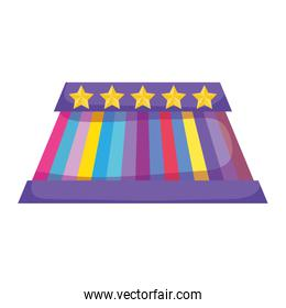 circus stage isolated icon
