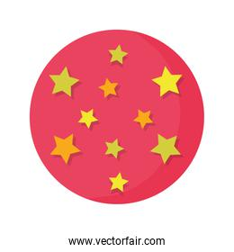 circus balloon plastic with stars isolated icon