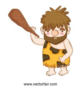 caveman with bludgeon character