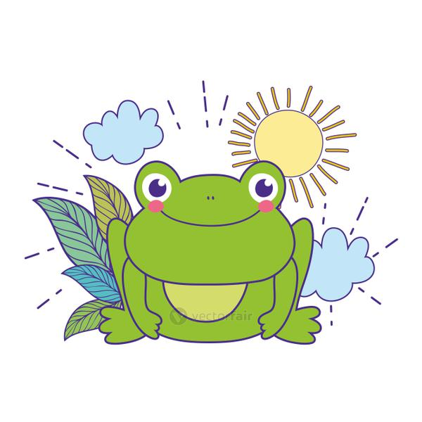 cute toad in the landscape character