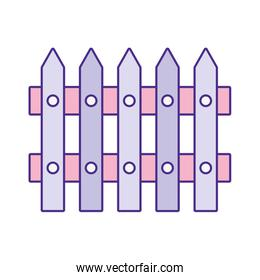 cute wooden lilac fence icon