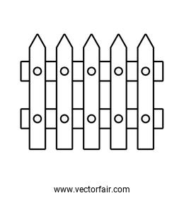 cute wooden fence icon