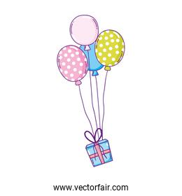party balloons helium with gifts