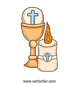 sacred chalice religious with candle