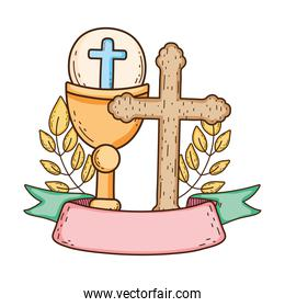sacred chalice with cross