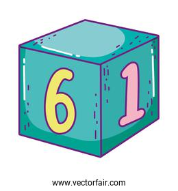 block with number toy