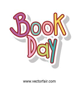 book day calligraphy message
