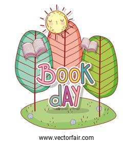 book day message in the landscape