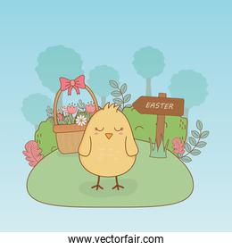 little chick easter character