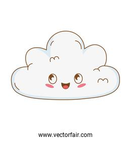 cute cloud kawaii character