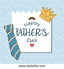happy fathers day card with neck tie
