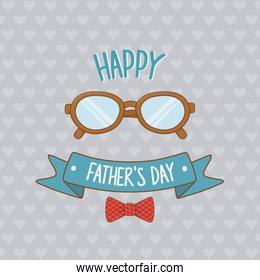 happy fathers day card with eyeglasses