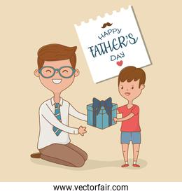 father and son characters card