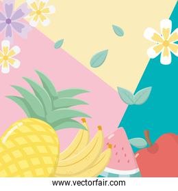 fresh and tropical fruits