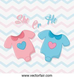 Baby shower of a girl and boy design