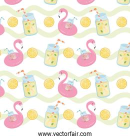 summer holiday poster pattern background