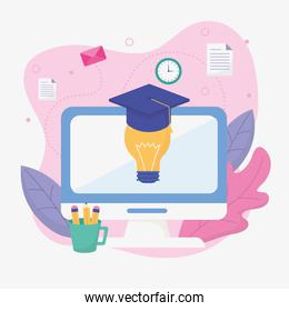 computer idea graduation school education online image