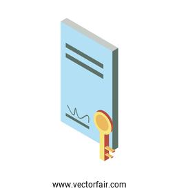Real estate document icon isometric vector design